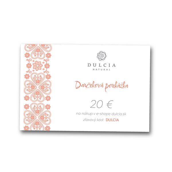 Darčeková poukážka 20€ (Elektronická)