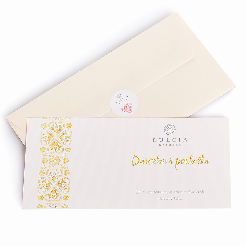 Darčeková poukážka 20€ (Papierová)