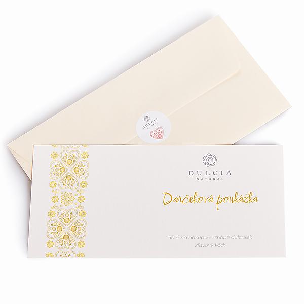 Darčeková poukážka 50€ (Papierová)