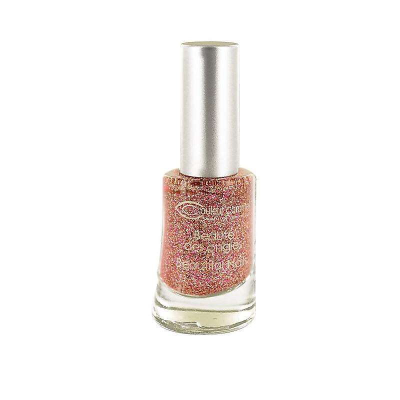 Lak na nechty n°813 Glitter pink gold