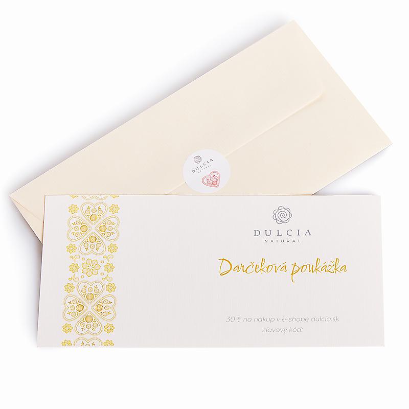 Darčeková poukážka 30€ (Papierová)